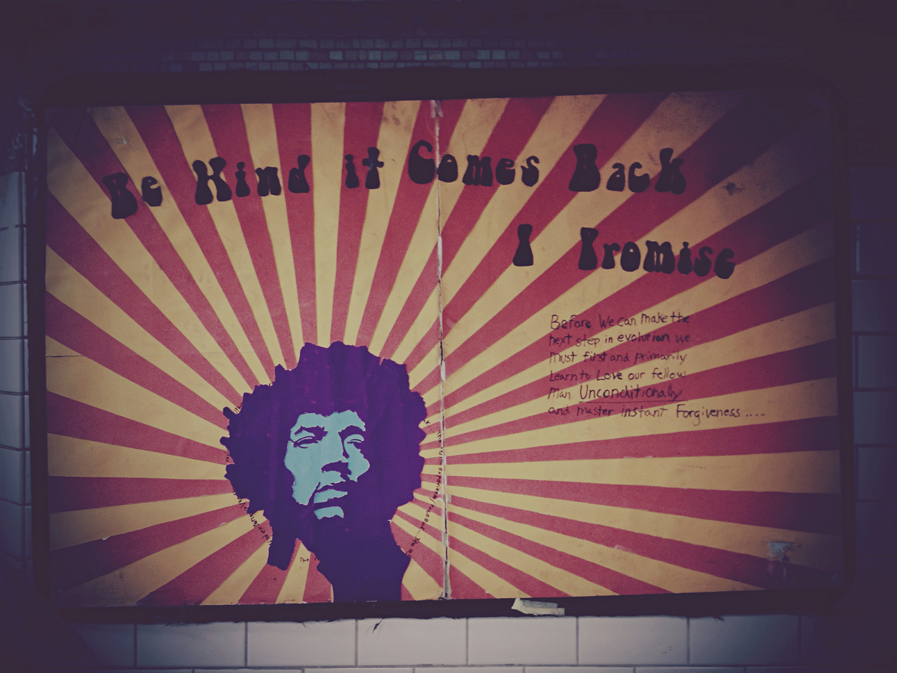 Be Kind It Comes Back, I Promise #peppersearching #pepper #photos #jimi #art