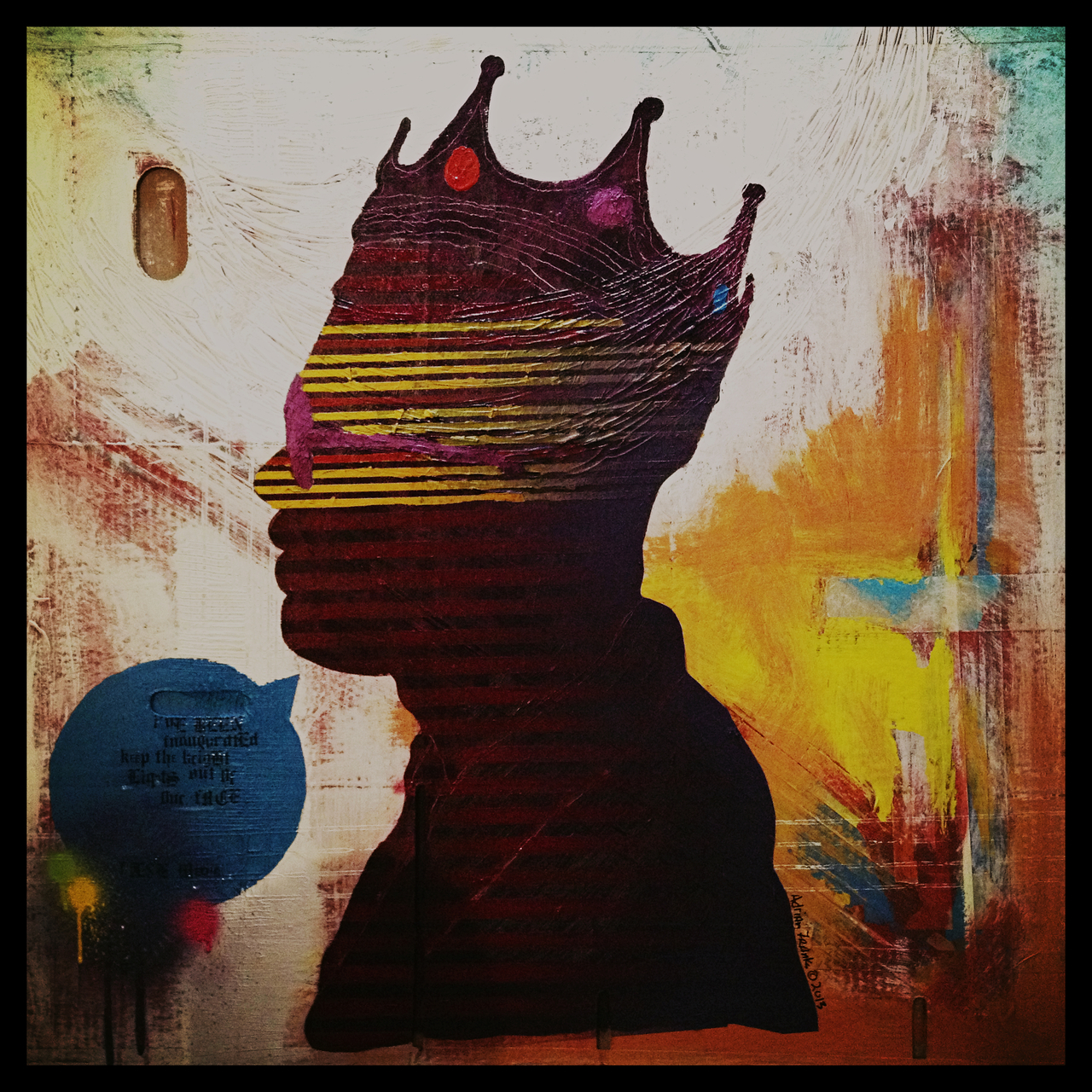 """False Media Wears The Crown"" by Adrian Franks #peppersearching #pepper #photos #fearless #crown #painting"