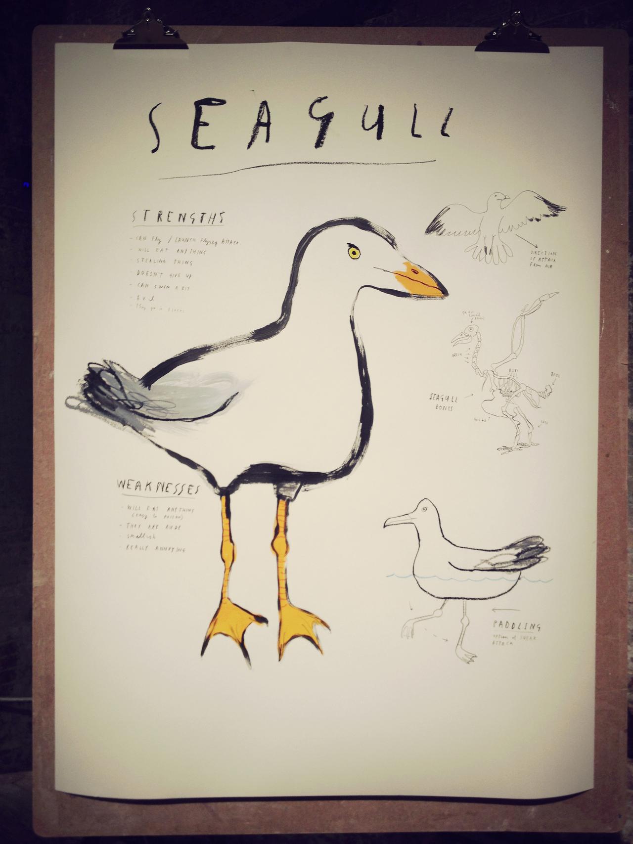 Seagull by Mul Holland Hwang #peppersearching #pepper #photos #seagull #bird #paper #yellowfeet #art