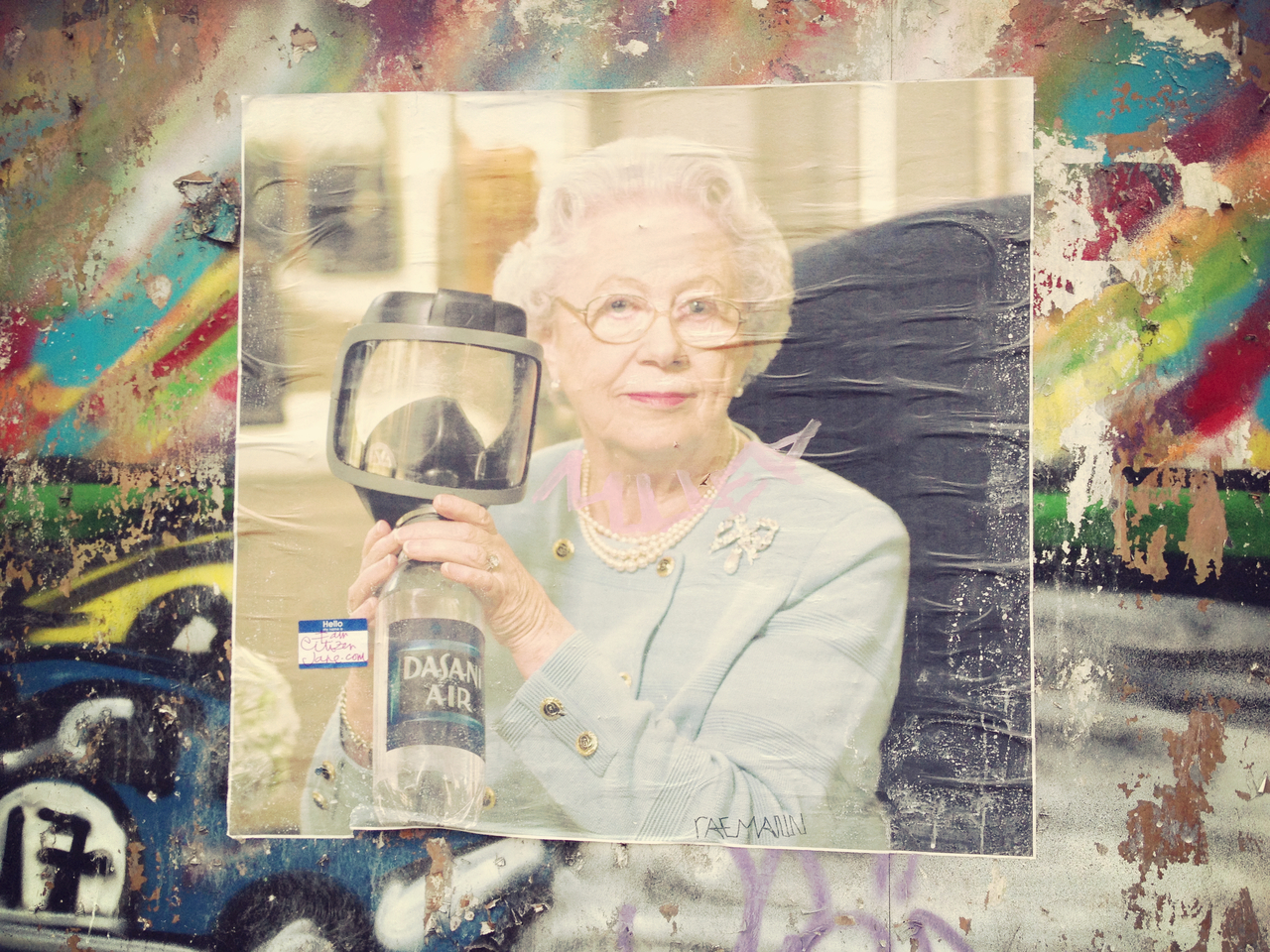 Grandma on a Wall #peppersearching #pepper #photos #graffiti #wall #nyc