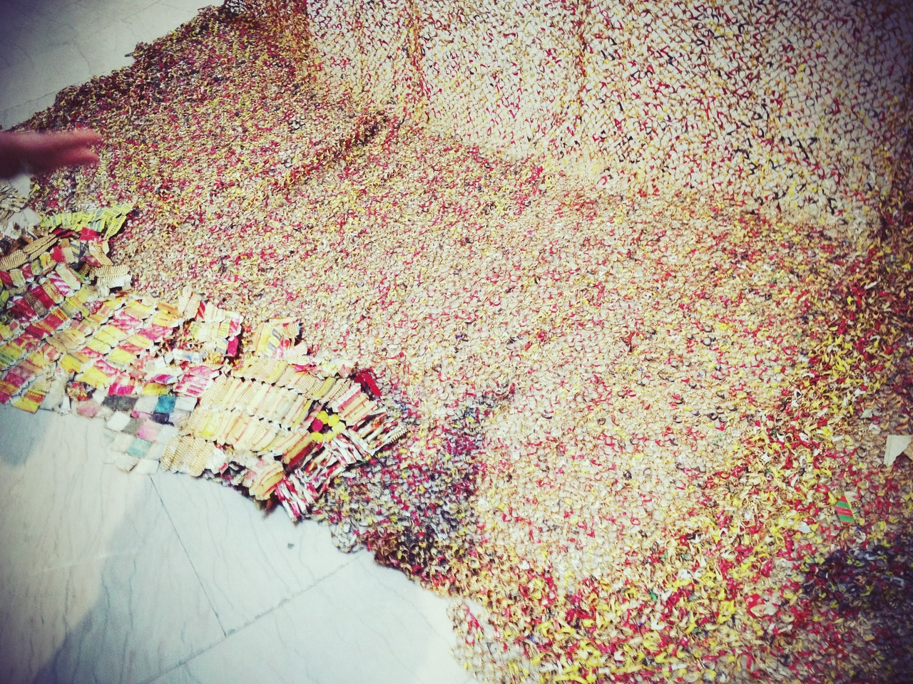 El Anatsui @brooklynmuseum #peppersearching #pepper #photos #art #sculptures