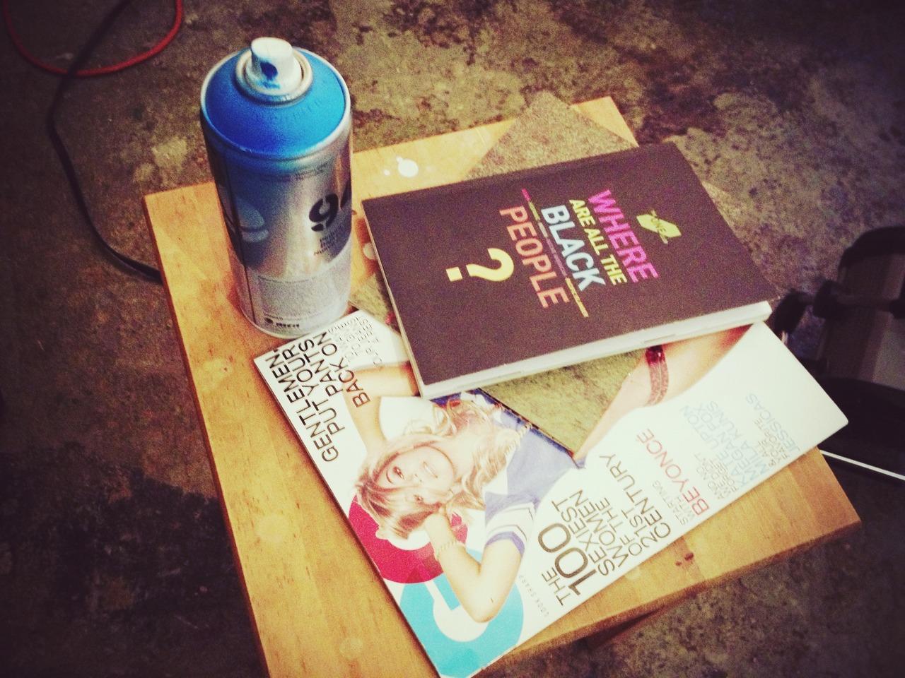 Studio Break - #pepper #peppersearching #gq #wherearetheblackpeople #spaycan #graffiti