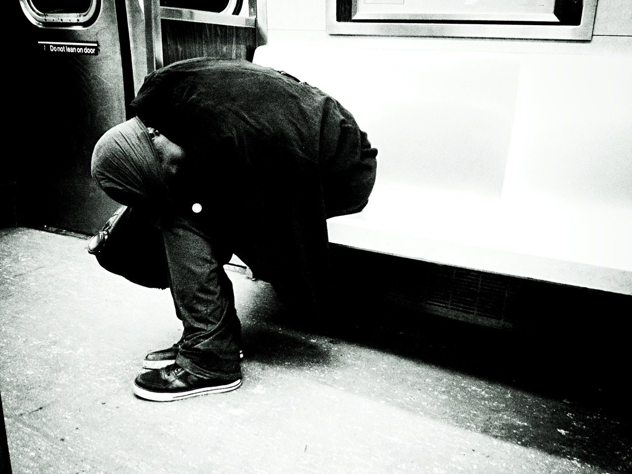 Pray Mantis on C-Train #peppersearching #pepper #photos #homeless #train #c