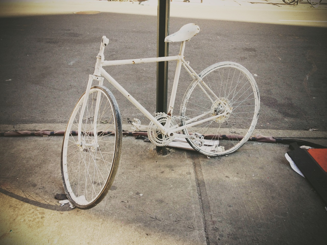 A Prayer for the Lone Rider #peppersearching #pepper #photos #bike #white #prayer