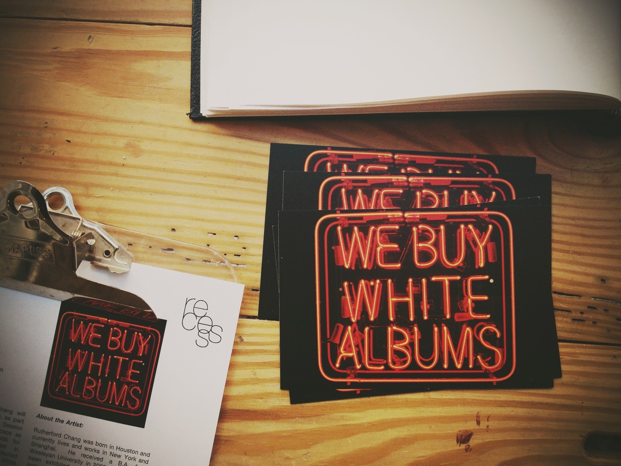 We Buy White Albums #peppersearching #pepper #photos #art #Beatles #flyer