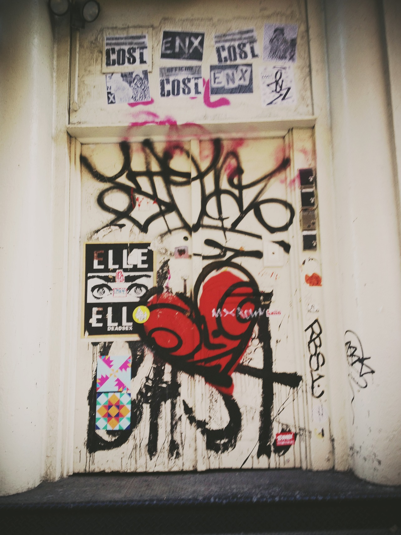 Tag Door - #peppersearching #pepper #photos #tag #door #soho #graffiti #heart