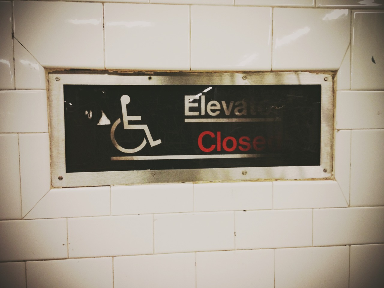 Closed Elevator #peppersearching #pepper #photos #sign