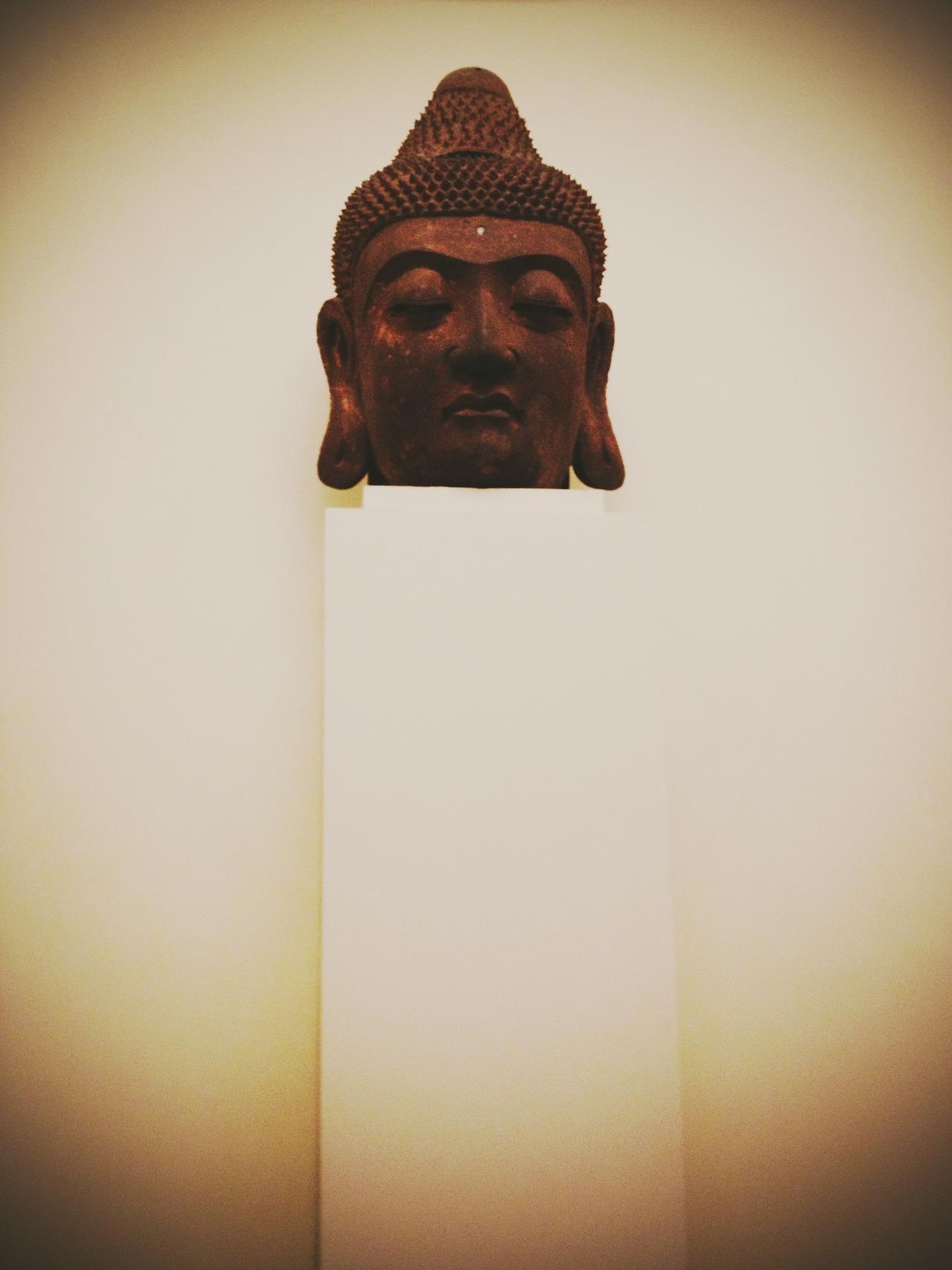 Buddha Head on Stand - #peppersearching #pepper #photos #buddha #art #Sculpture #met