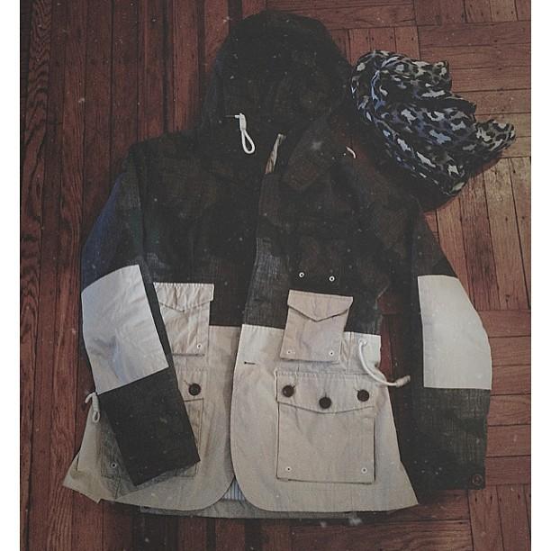 streetetiquette :     Laid out // Marshall artist jacket + @aleetange scarf. @nordstrommen