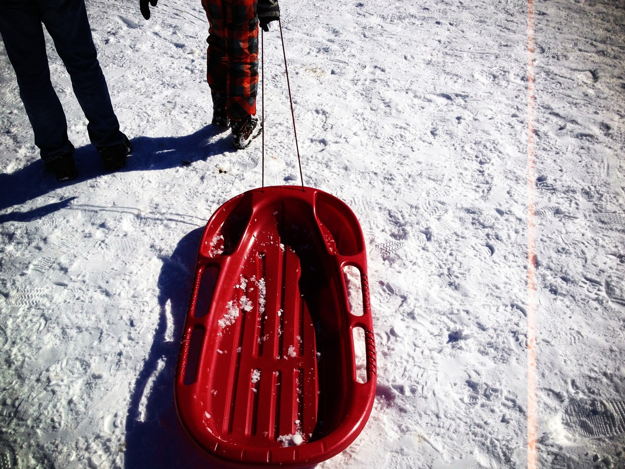 Red Sleigh - #peppersearching #pepper #photos #red #sleigh #snow