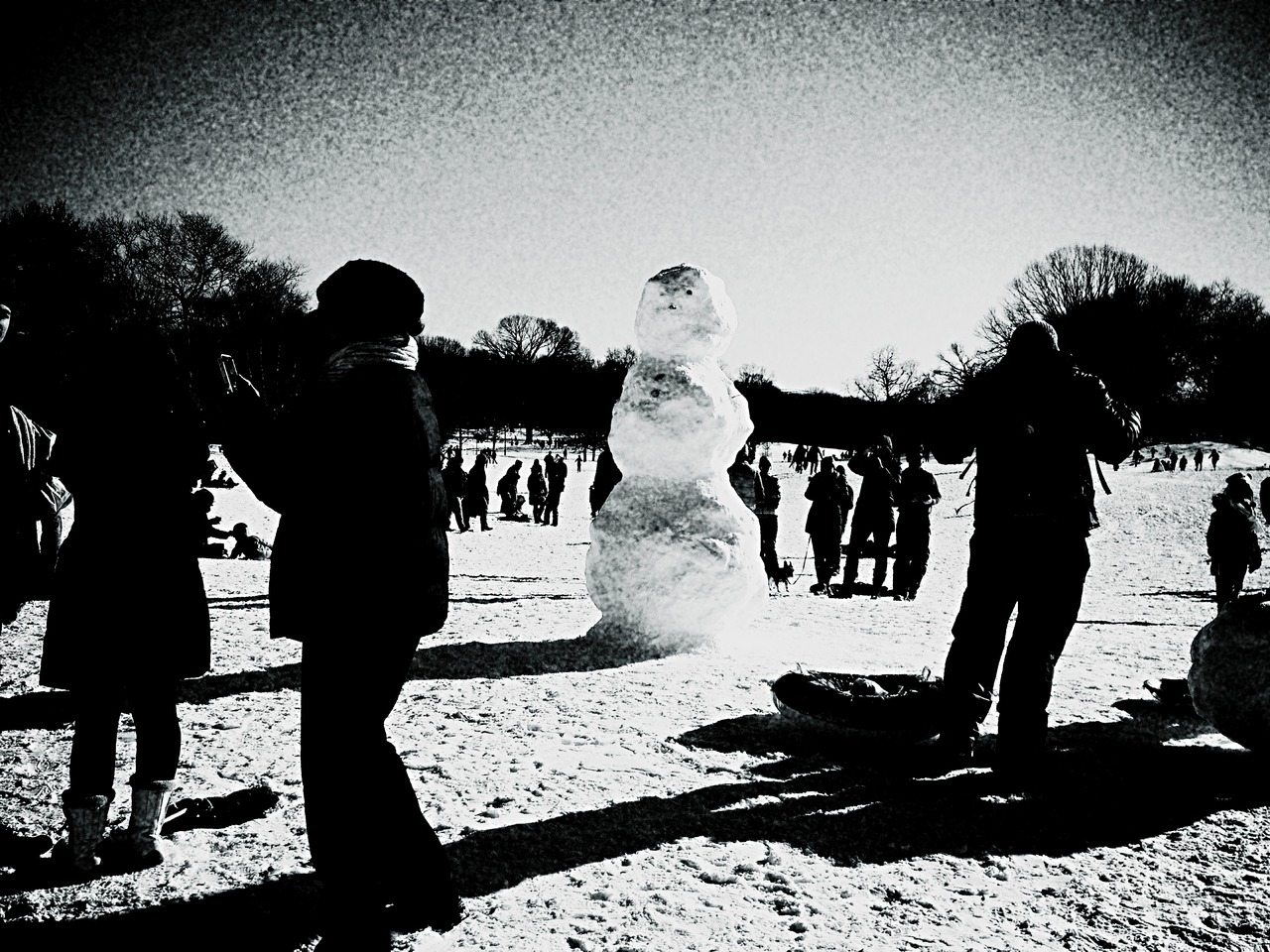 Who Needs Their Fix #peppersearching #pepper #photos #snow2013 #snowman #people #carrot #prospectpark