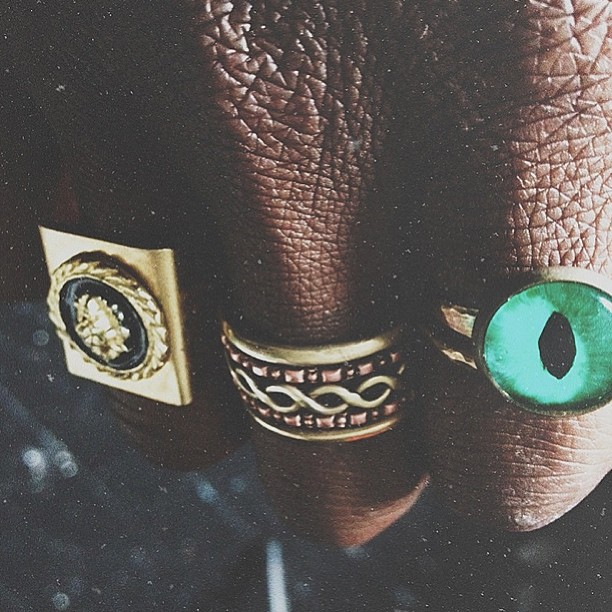 streetetiquette: Journey // one of the most difficult accessories to come across are probably my rings. A long story short, I misplaced the majority of the rings I had before so here's a look at a slow build up. Miss the tribal face one :( especially 😿