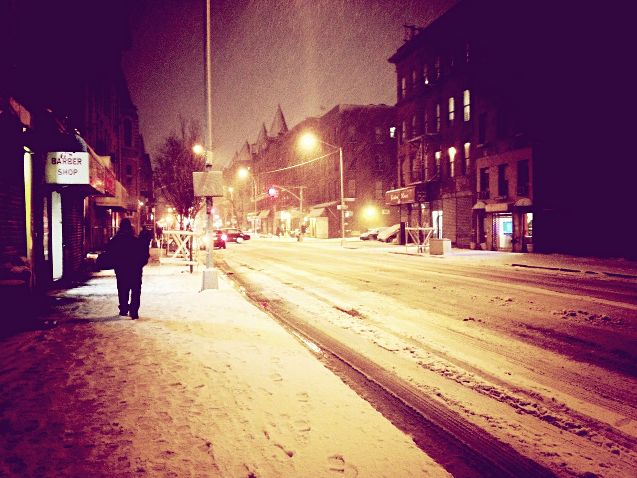 Walking Cool #peppersearching #pepper #photos #snow #man #brooklyn