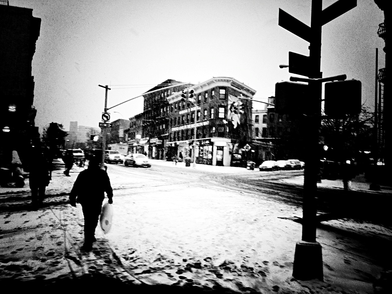 Prepare for the Heat #peppersearching #pepper #photos #man #snow #brooklyn