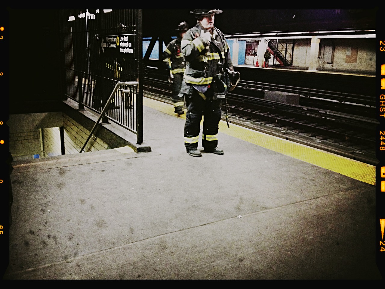 Heroes on a Platform #peppersearching #pepper #fireman #nyc #brooklyn #mya