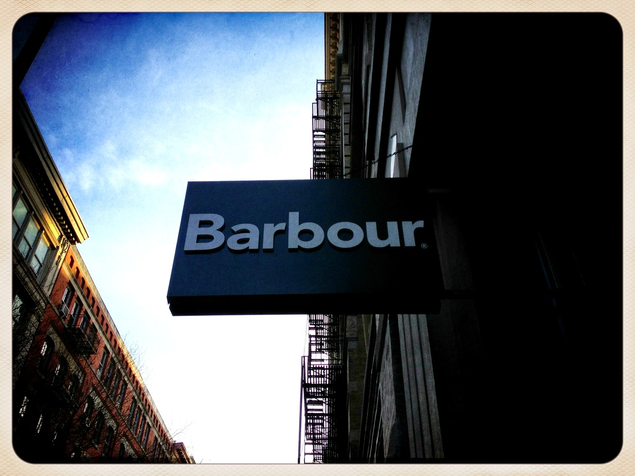Barbour Store front #peppersearching #soho #retail #style