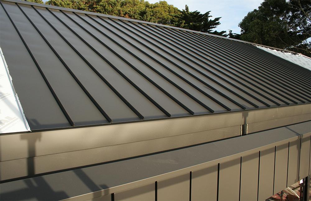Aluminium Satin Black Cliptray Roof