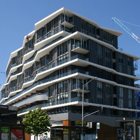 EDEN APARTMENTS, RICHMOND - INTERLOCKING EXPRESS PANELS - ALUMINIUM
