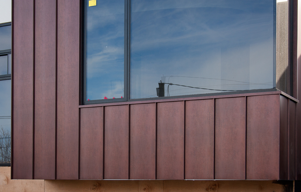 Copper Wall Cladding : Standing seam antique copper wall cladding — architectural