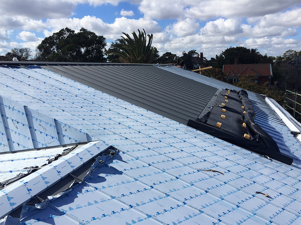 Zinc roof in Standing Seam Panels