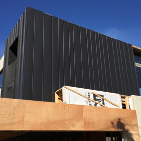 ALICE ST, MALVERN EAST VIC standing seam panels - Elzinc jet black