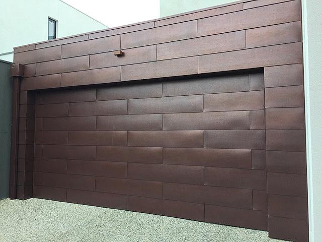 Garage Door In Flat Lock Panels