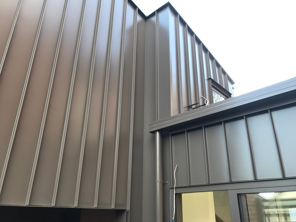 Garage/studio Rear Extension On This Grand Brunswick Residence. Archclad  Cliptray 48 In Colorbond U0027 Jasperu0027 Panels 278mm Wide. Installed By Nolan  Roofing.