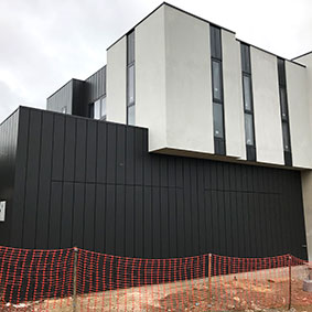 Lords Court, Lysterfield VIC PVDF Satin Black - Interlocking EXPRESS PANELS