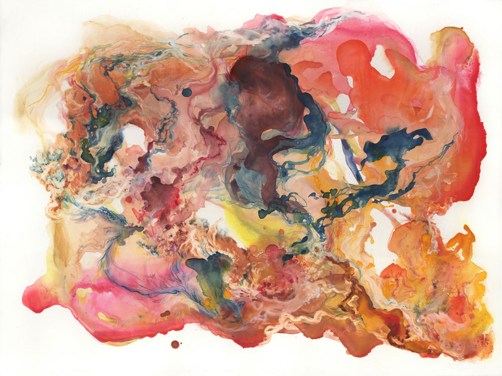 "Almacantar II   Watercolor and Gouache on Panel      40"" x 30""   2011"