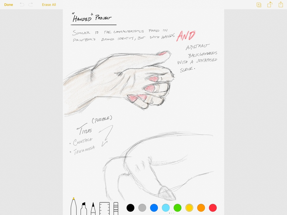 Sketching with the Apple Pencil is tactile and natural. If you tilt the Pencil, you can replicate a shading effect, and the weight of your strokes is based on the pressure you put on the iPad Pro's screen.