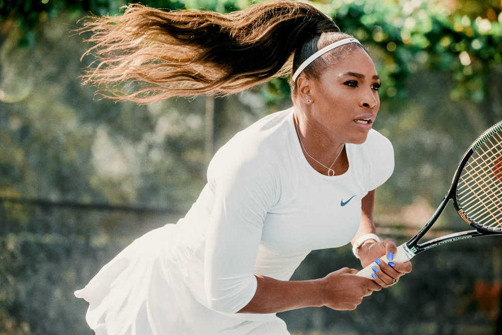 "Serena Williams for Chase's ""Masters are Here"" commercials, 2015, photographed in Miami"
