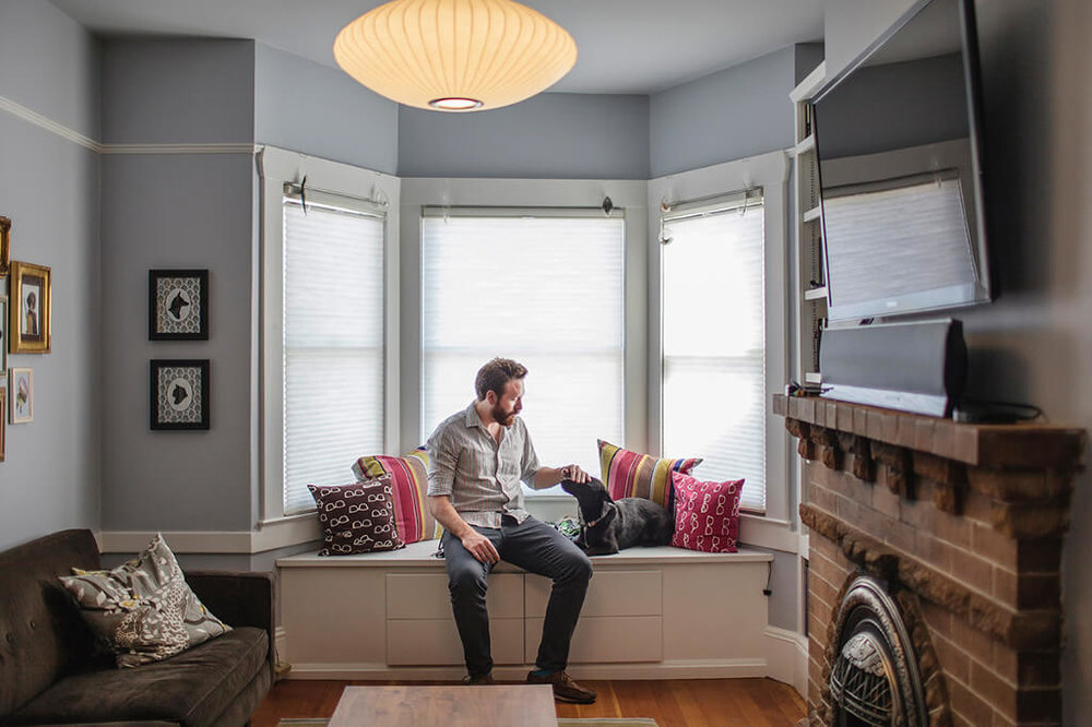 Ryan Sims , Head of Design at  Rdio , in his home. San Francisco, June 2013