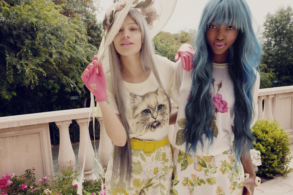 Mila De Wit and   Nyasha Matonhodze for Wildfox Resort, 2013