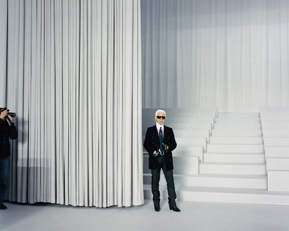 Karl Lagerfeld at the Grand Palasis for Fashion Magazine Volume 3, 2007