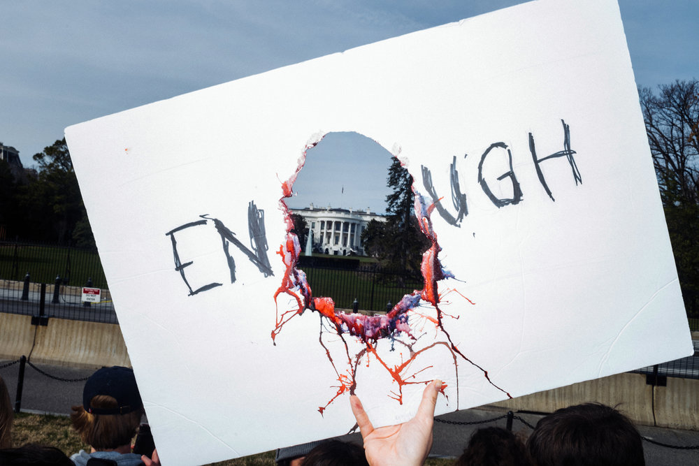 Scenes from the March for Our Lives in Washington, D.C. for  Vogue , March 2018