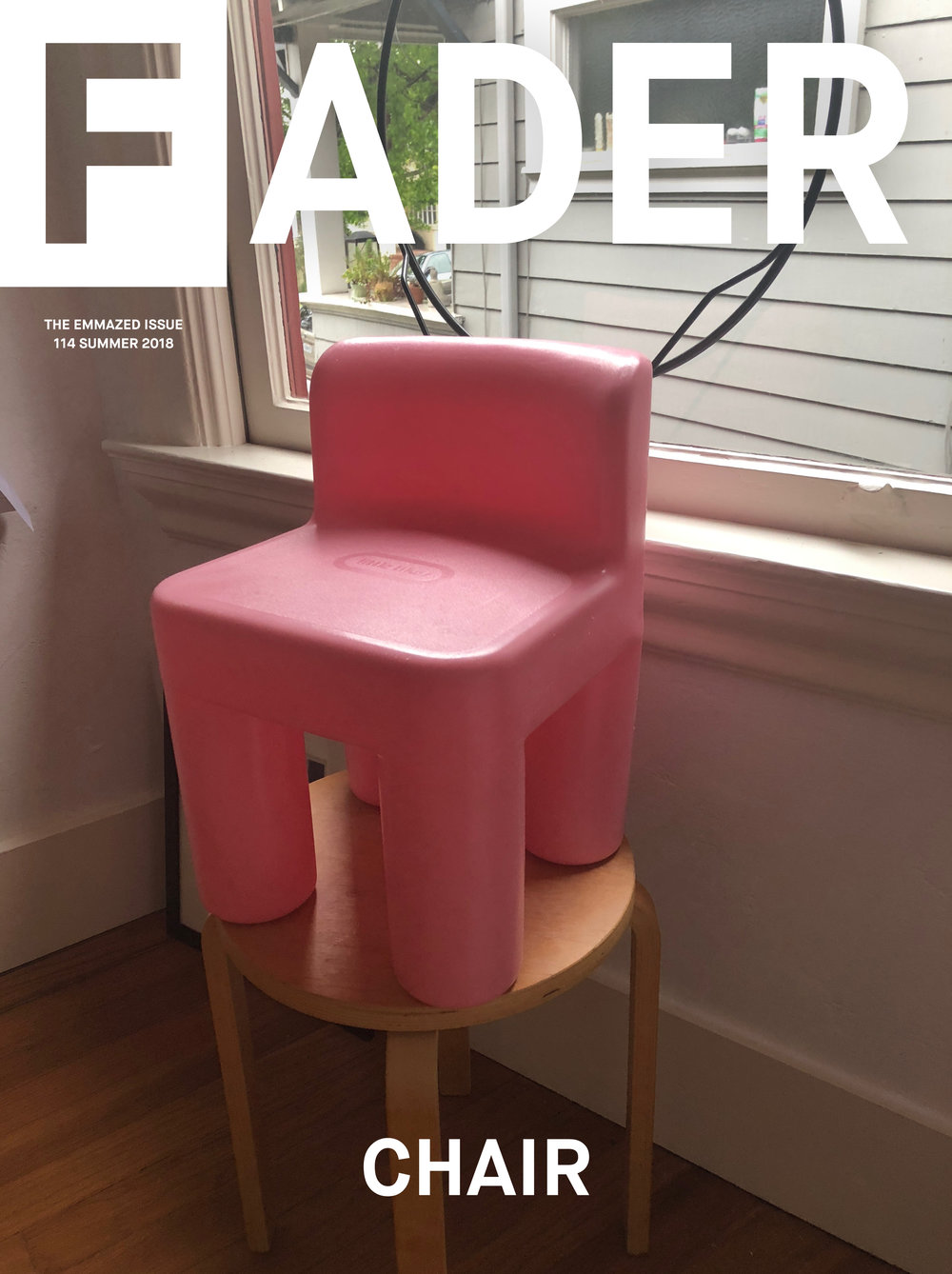 Chair for  The FADER . Photography by Emily Keegin. Design by Mo Mfinanga.