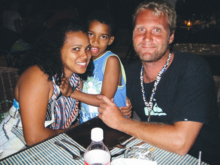 Allan, Sobi, and Sobi's son, Emil