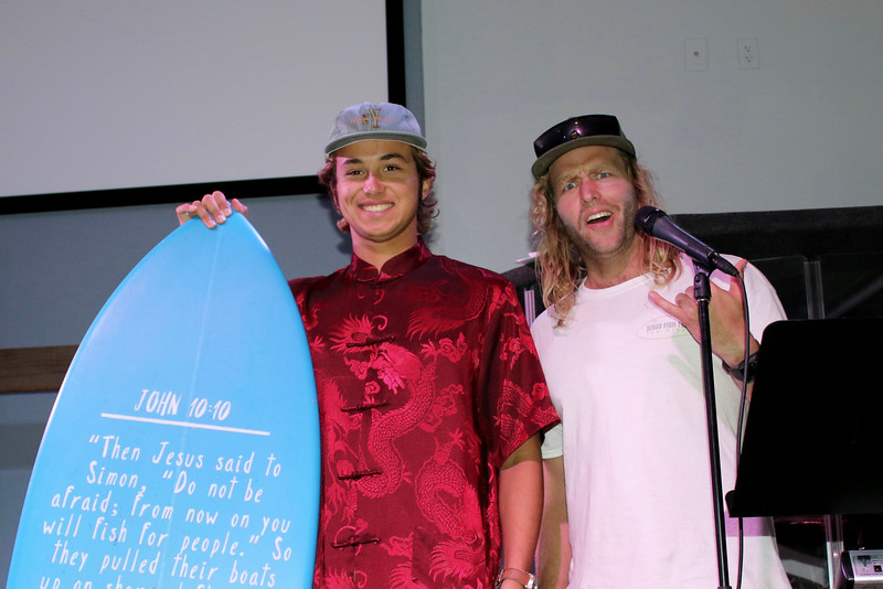 Alex Humphries, Stoke-Master Spencer Lillywhite, and the John Fish. Photo: Chris Kelly