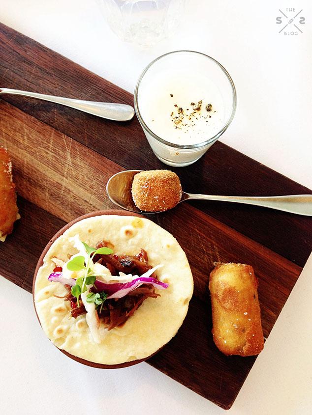 No.4 Blake Street mushroom croquettes & mini tacos