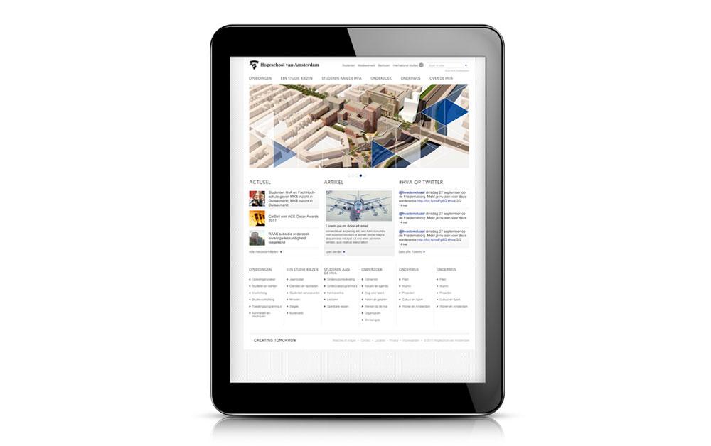 Hogeschool van Amsterdam website