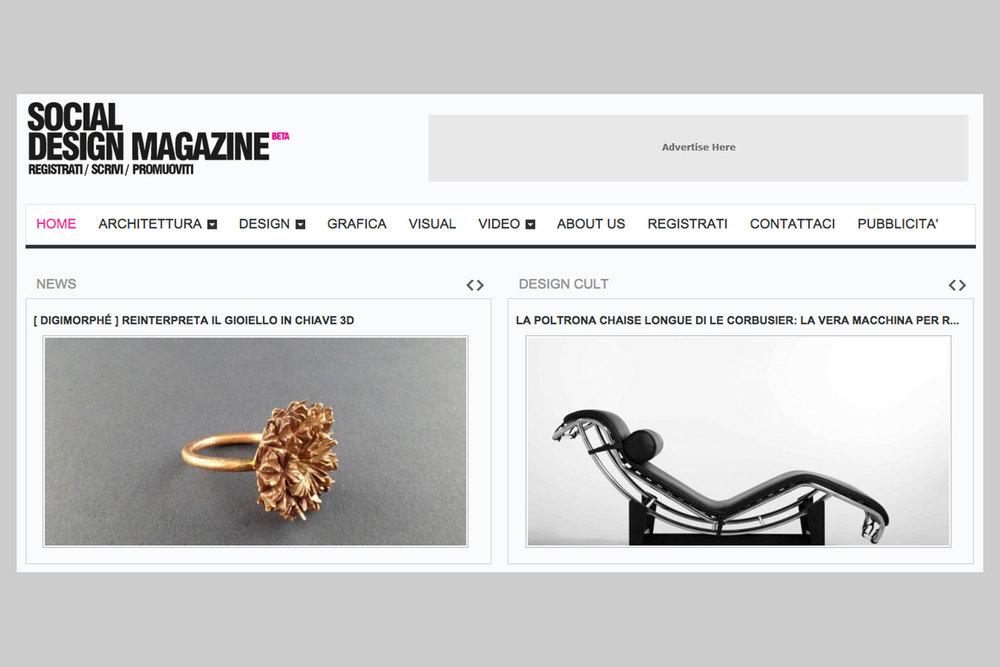 Social Design Magazine, 12-3-2015