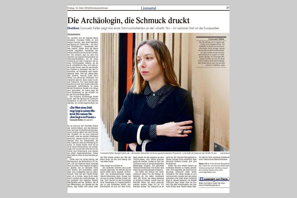 Limmattaler Zeitung, 14-3-2014