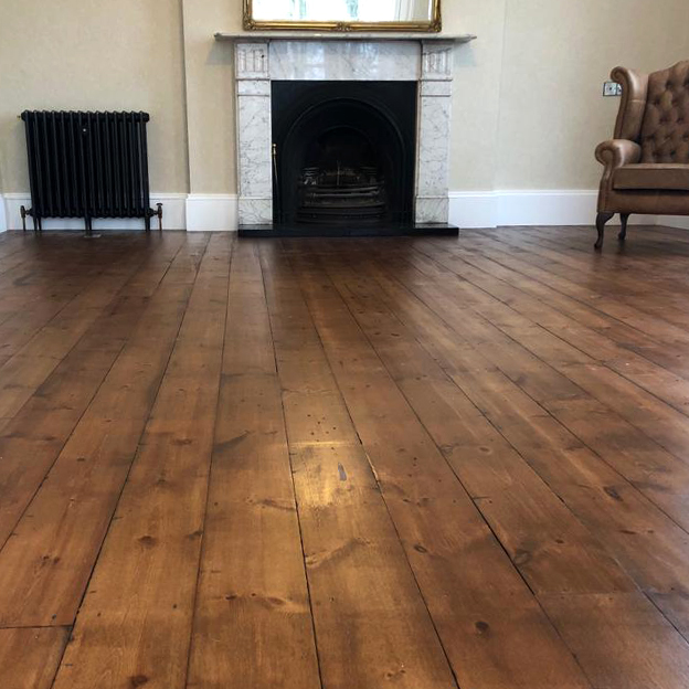 Re-Sawn Mill Pine Flooring, Domestic Project