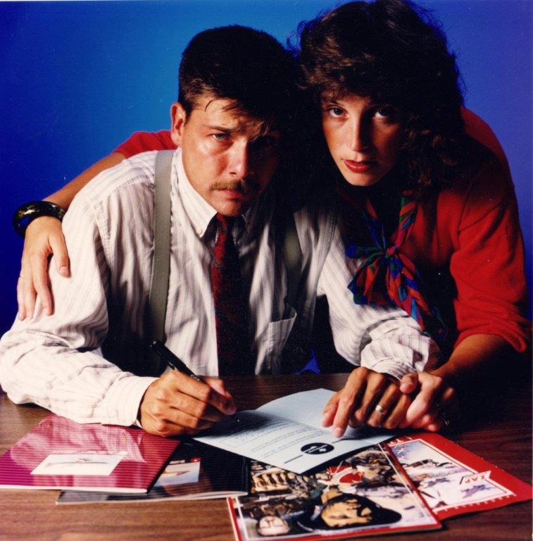 Scott and Katherine in 1989.
