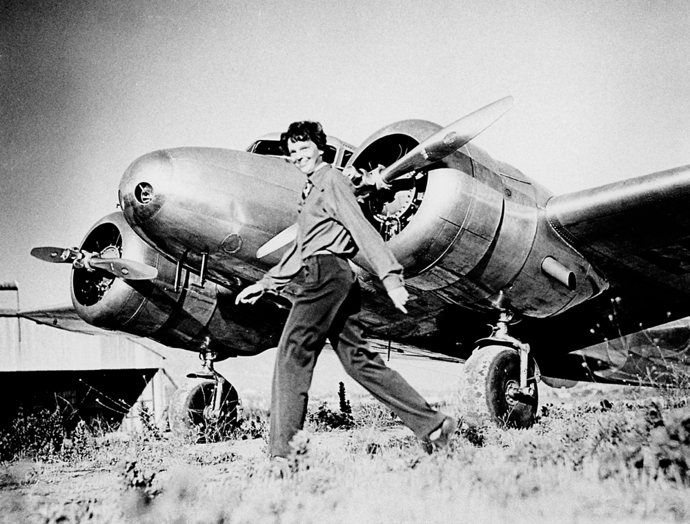 Female aviation legend Amelia Earhart