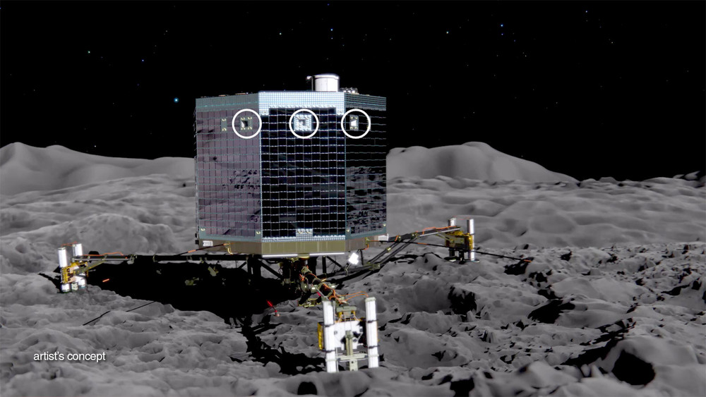 An artist's portrayal of the Philae lander.