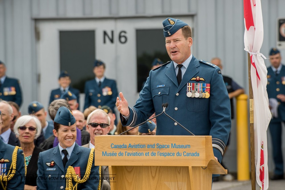 LGen Mike Hood, who took command of the RCAF on July 9, 2015, used his swearing in ceremony to say that he would not tolerate any sexual misconduct under his command. (Richard Lawrence)