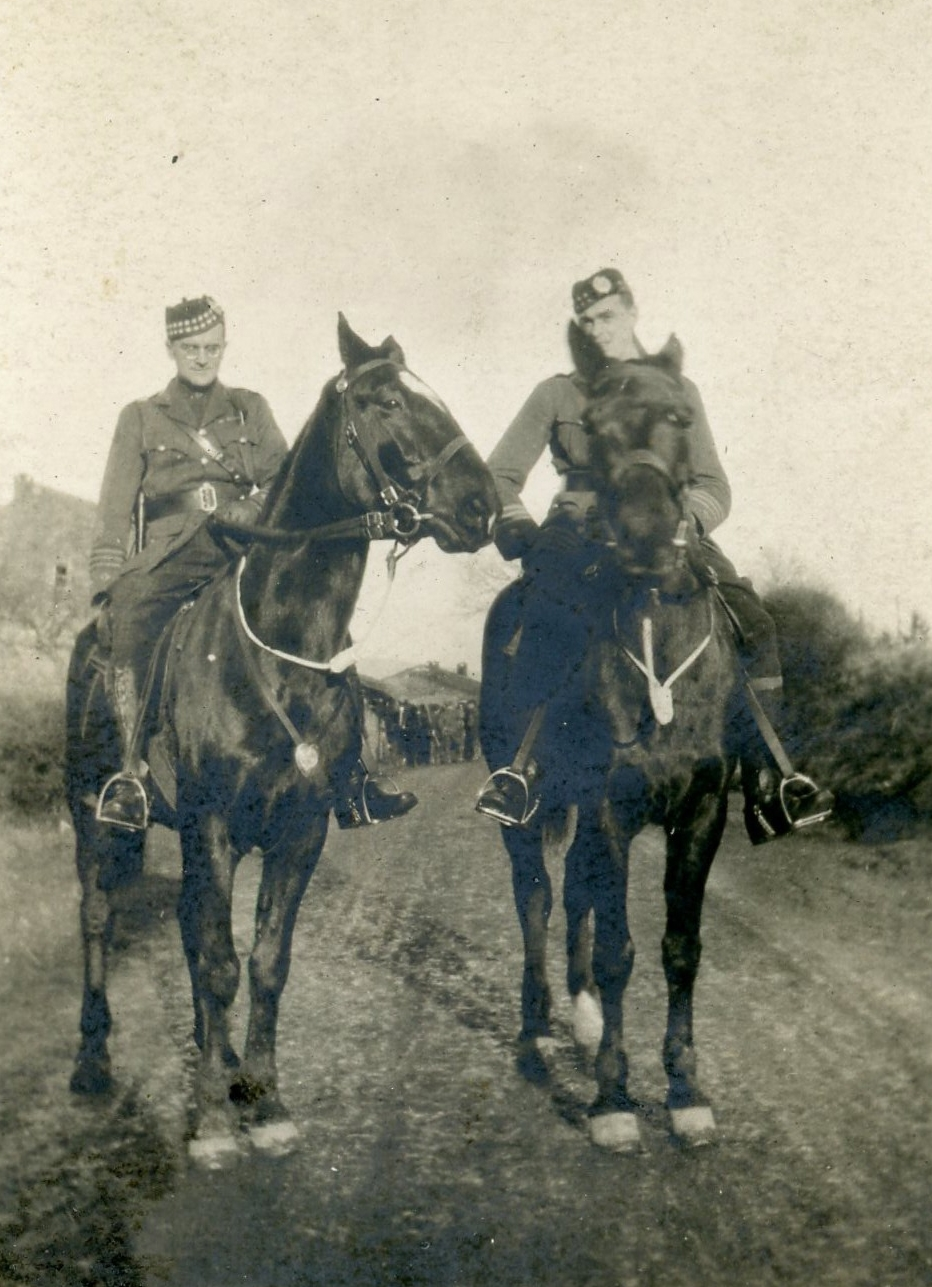 LCol Bent (left) mounted on Fritz, at Engelskirchen, Germany during the form-up parade as the Battalion prepared to leave Germany, 7 Jan 1919. On the right is Major John Girvan DSO, MC and Bar, CDG, who commanded at The Crow's Nest. (15th Battalion Memorial Project)