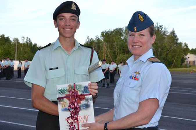 Representing the Royal Canadian Army Cadets in Ottawa this year is Cadet Master Warrant Officer Lucas Emery of 242 Fredericton Royal Canadian Army Cadet Corps (RCACC), recipient of the 2015 General Walsh Memorial Sword.