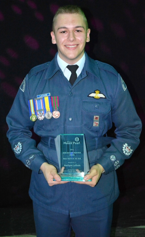 Cadet Warrant Officer Second Class Harrison Latham, from 510 Lions Royal Canadian Air Cadet Squadron, in St. John's, Newfoundland and Labrador, will represent the Air Cadets, having been named the 2015 Royal Canadian Legion Air Cadet of the Year. (Royal Canadian Army Cadets)